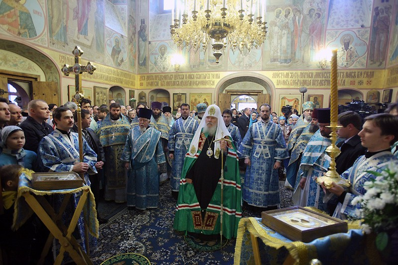 Освящение Казанского собора патриархом Алексием II