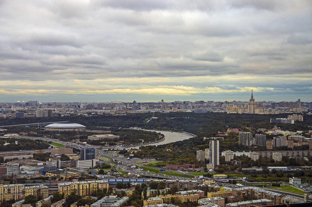 С высоты Воробьевых гор
