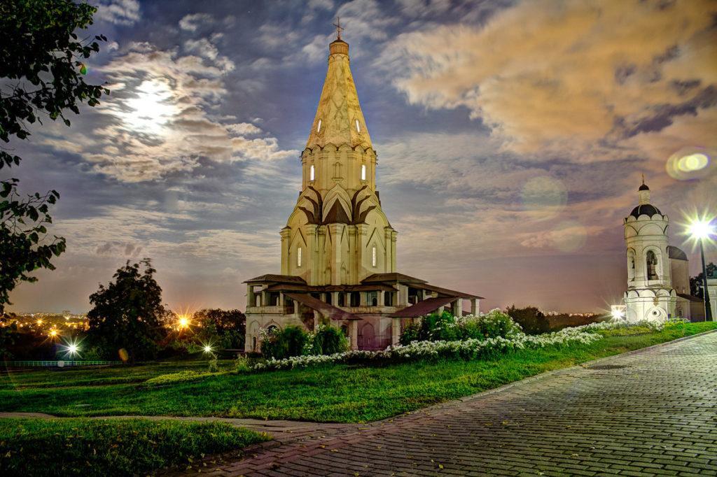 парк Коломенское Церковь Вознесения Господня