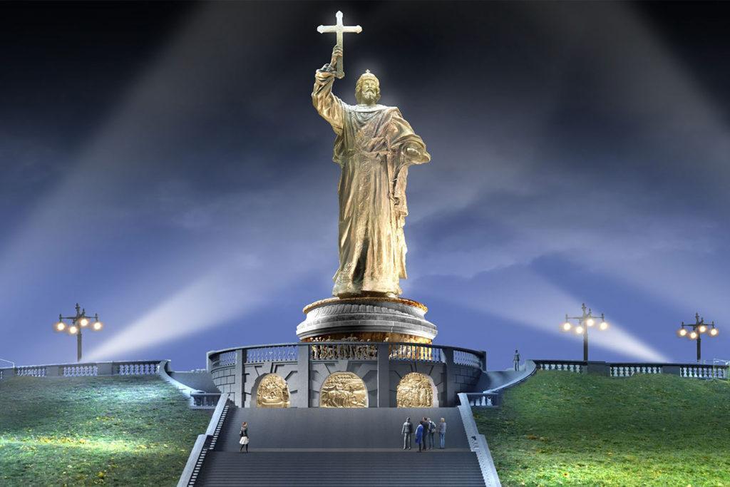 Выбор места под памятник князю Владимиру на Боровицкой площади