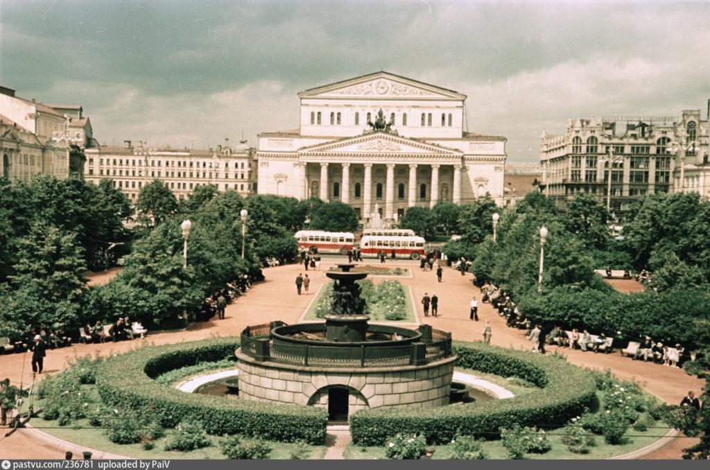 Большой театр в Москве 1960г.
