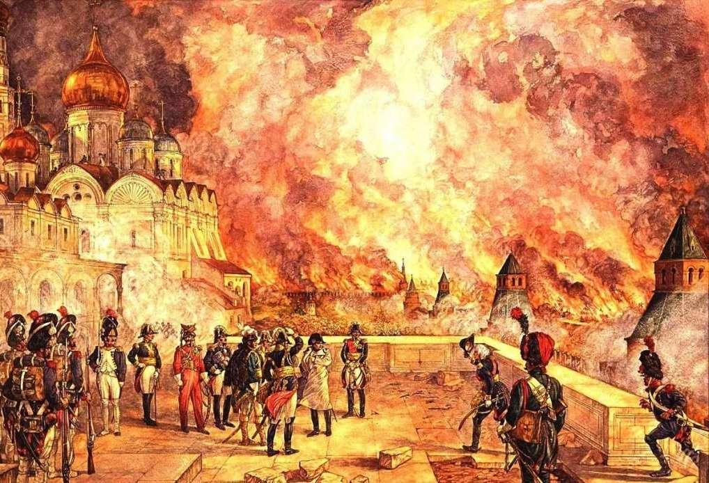 Отечественная война 1812 года: сдача Москвы, отступление Наполеона