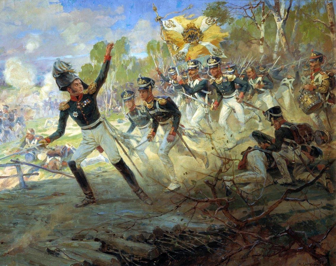 бородинское сражение в картинах художников прожитых