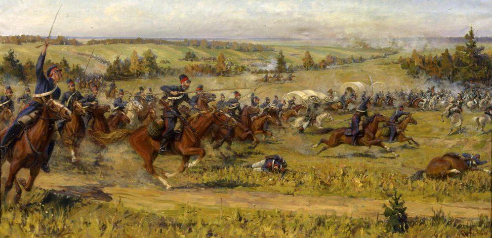 сражение русских казаков полковника Сысоева с французским арьергардом