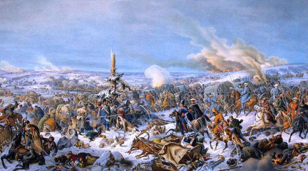 сражение у речки Березина в 1812 году
