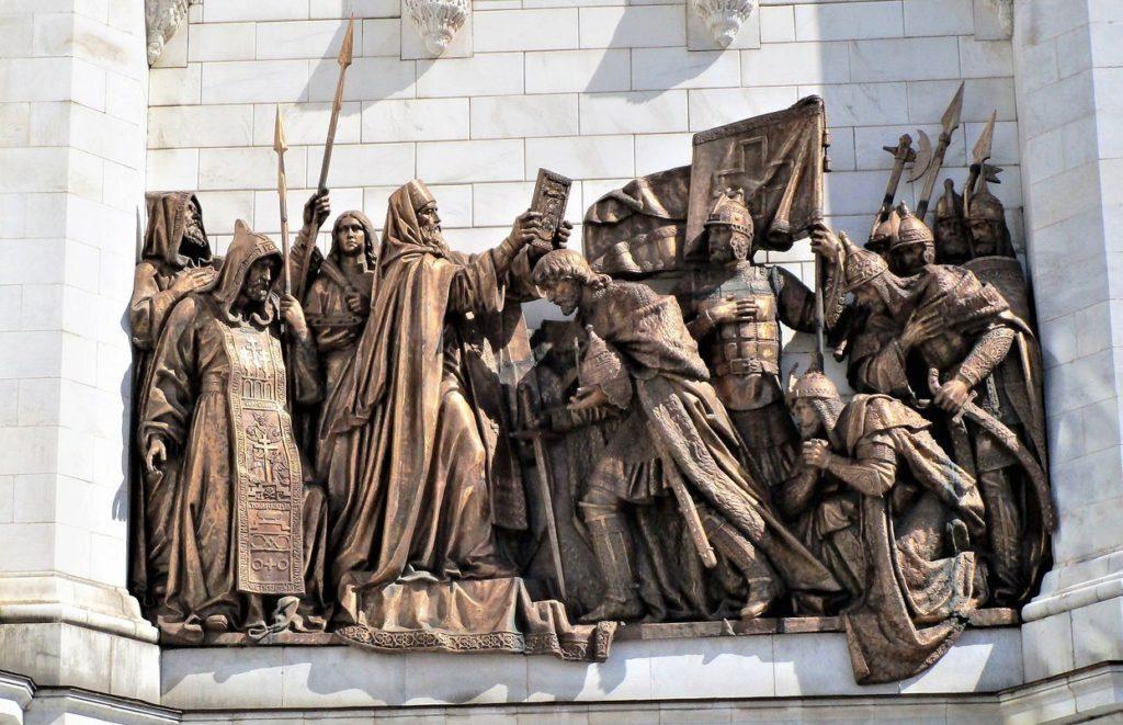 Горельефы на Храме Христа Спасителя