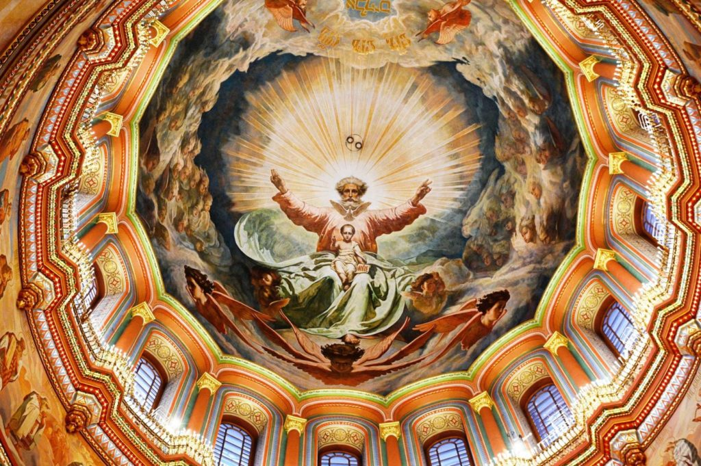 Главный купол Храма Христа Спасителя
