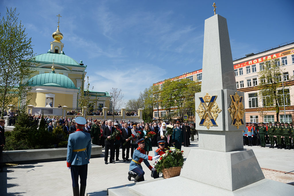 Памятный обелиск воинам Преображенского полка