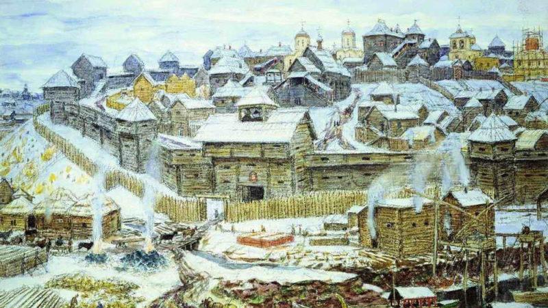 Московский Кремль при Иване Калите