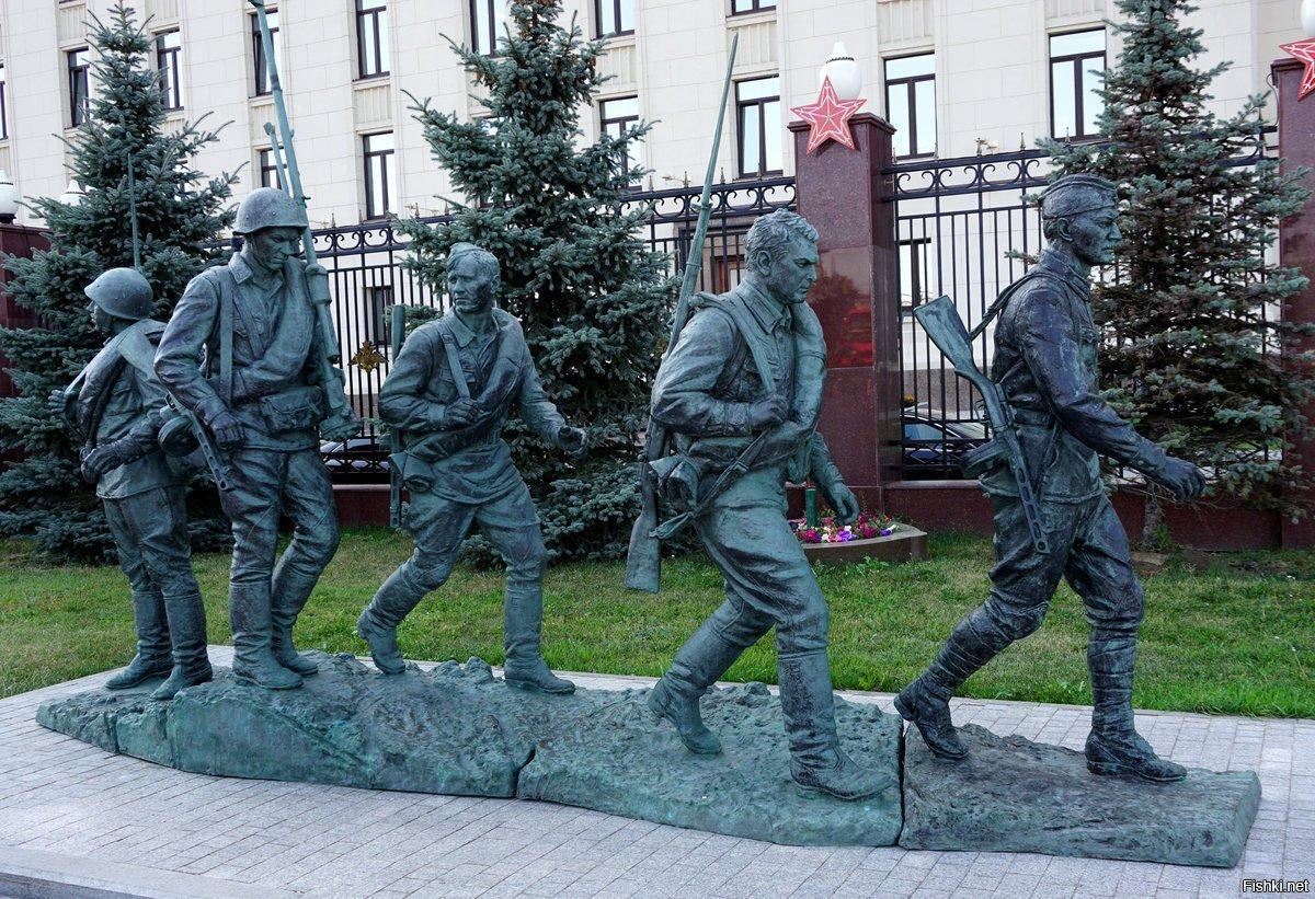 фрунзенская набережная скульптура они сражались за родину