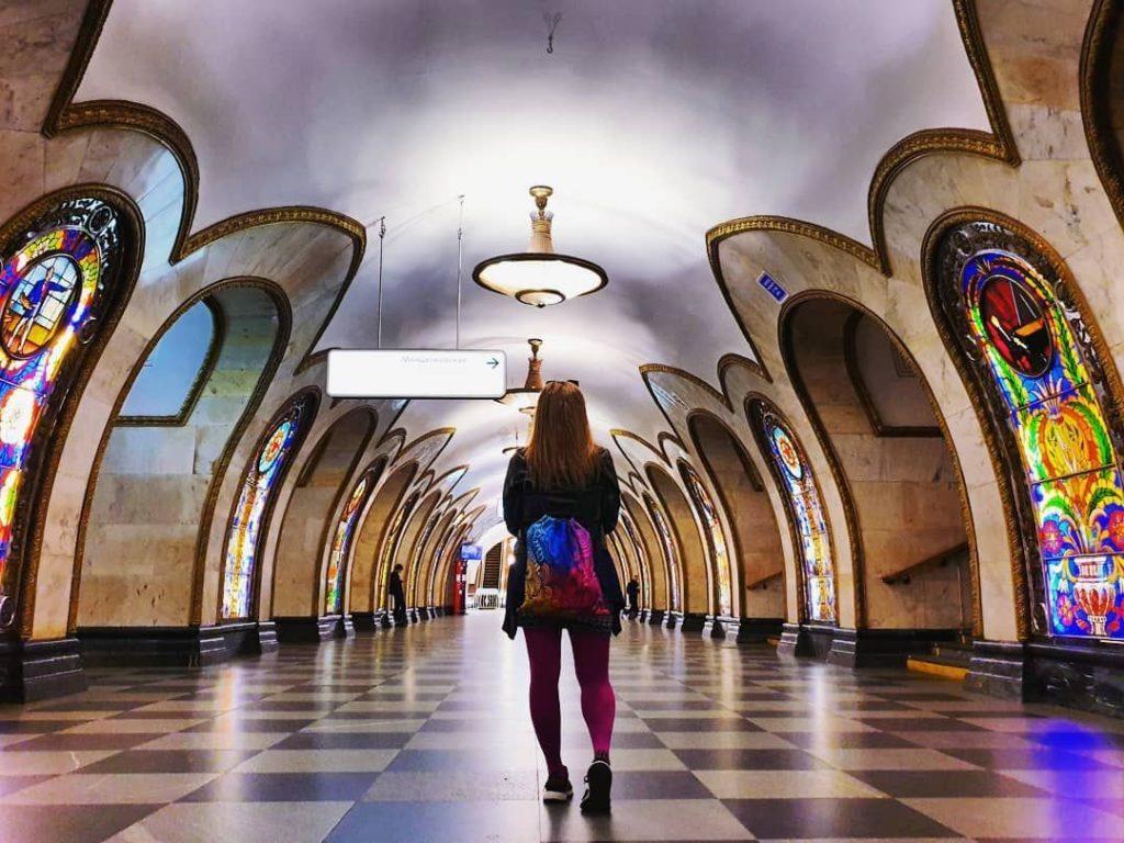 пустое московское метро
