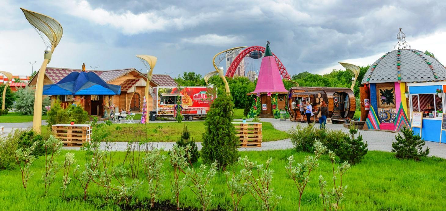 Необычные фонари Семейный парк «Сказка» в Крылатском