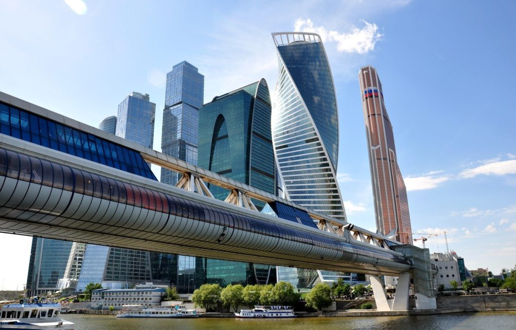 Москва-Сити и мост Багратион