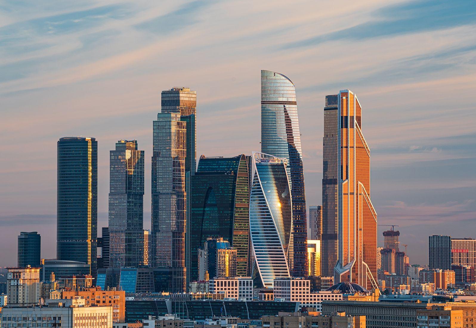 Общий вид Москва Сити