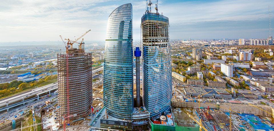 Строительство башни Федерация