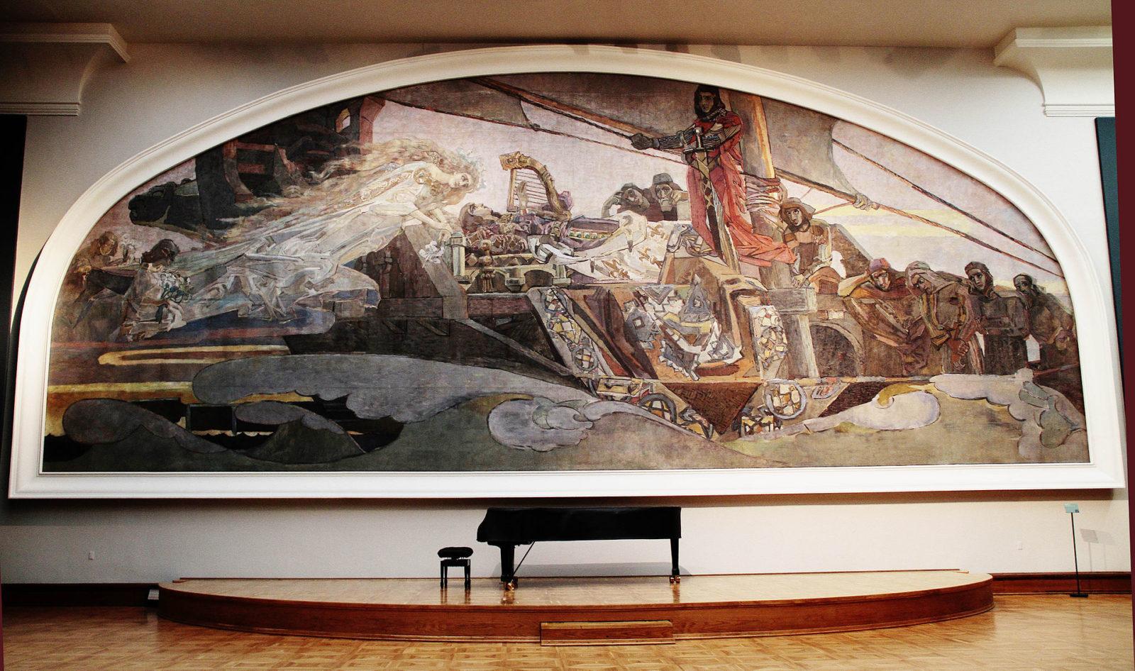 зал михаил врубель и николай рерих Третьяковская галерея