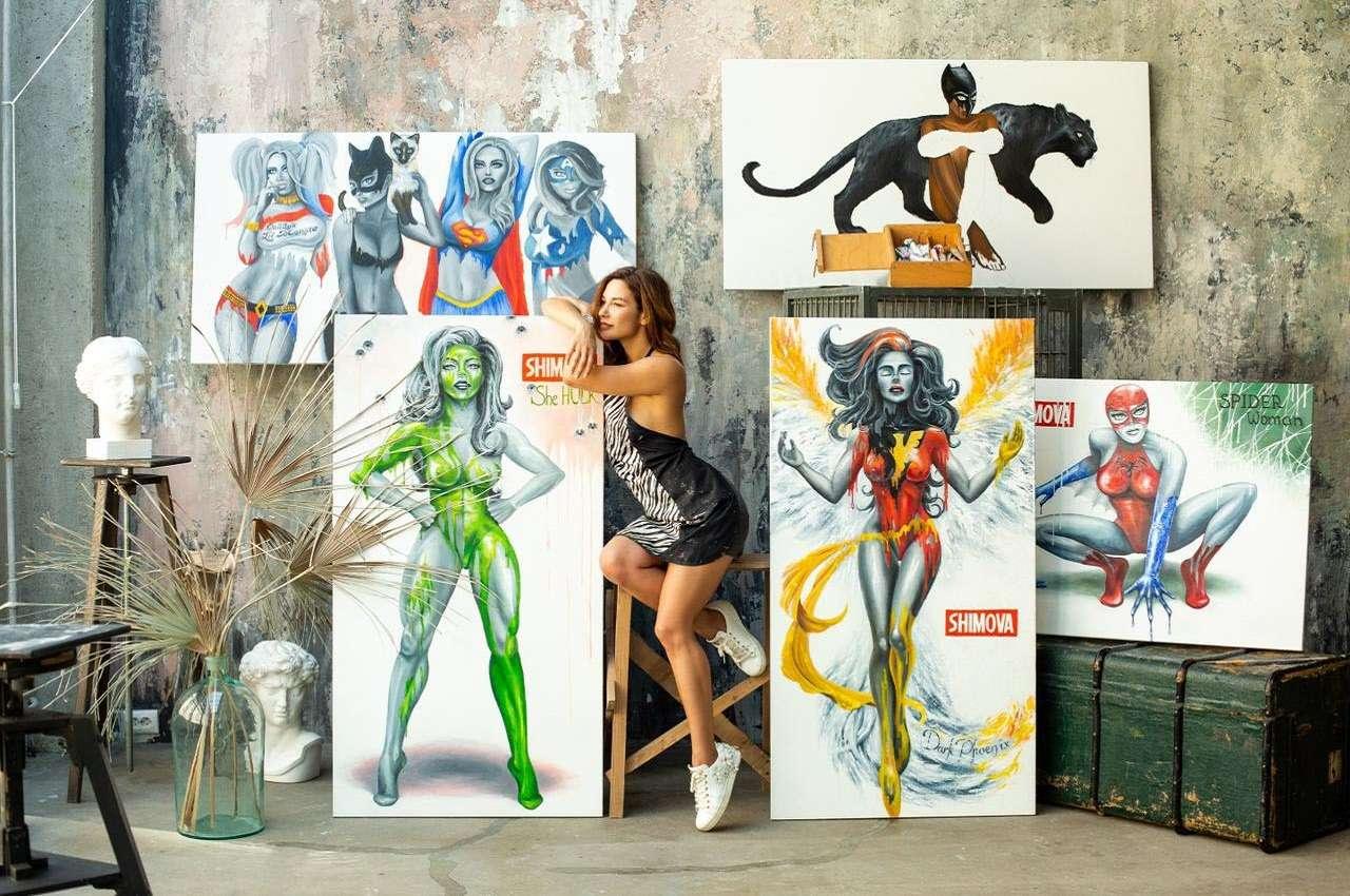 Супергерои в каждом из нас: в Москве пройдёт поп-арт выставка художницы Алины Шимовой «Супервумен»