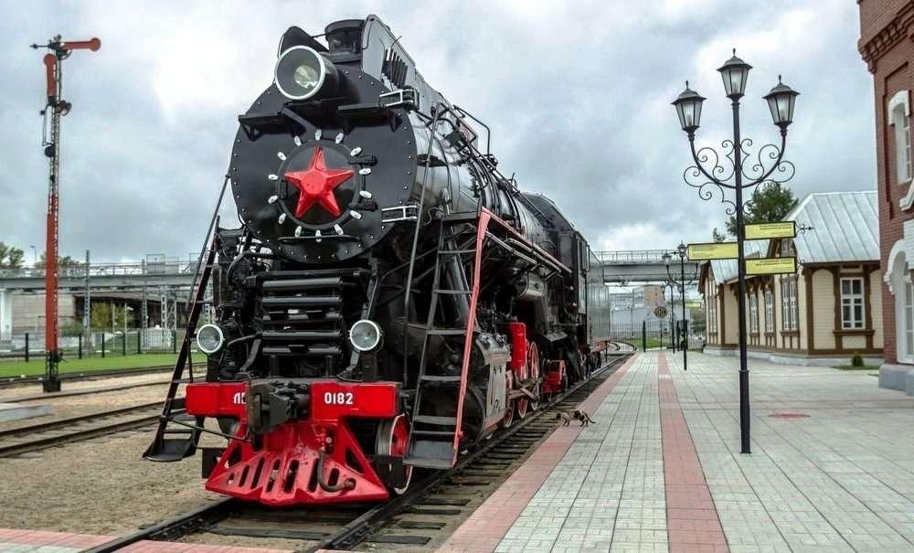 Музей истории железнодорожной техники на Рижском вокзале в Москве
