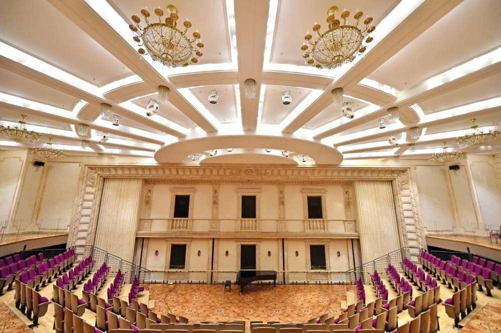 Подземный концертно-репетиционный зал Большого театра в Москве