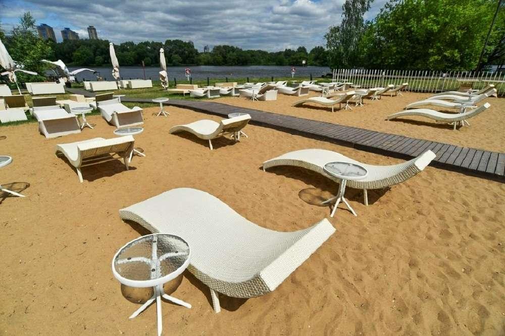 Пляж Серебряный Бор 2 в Москве