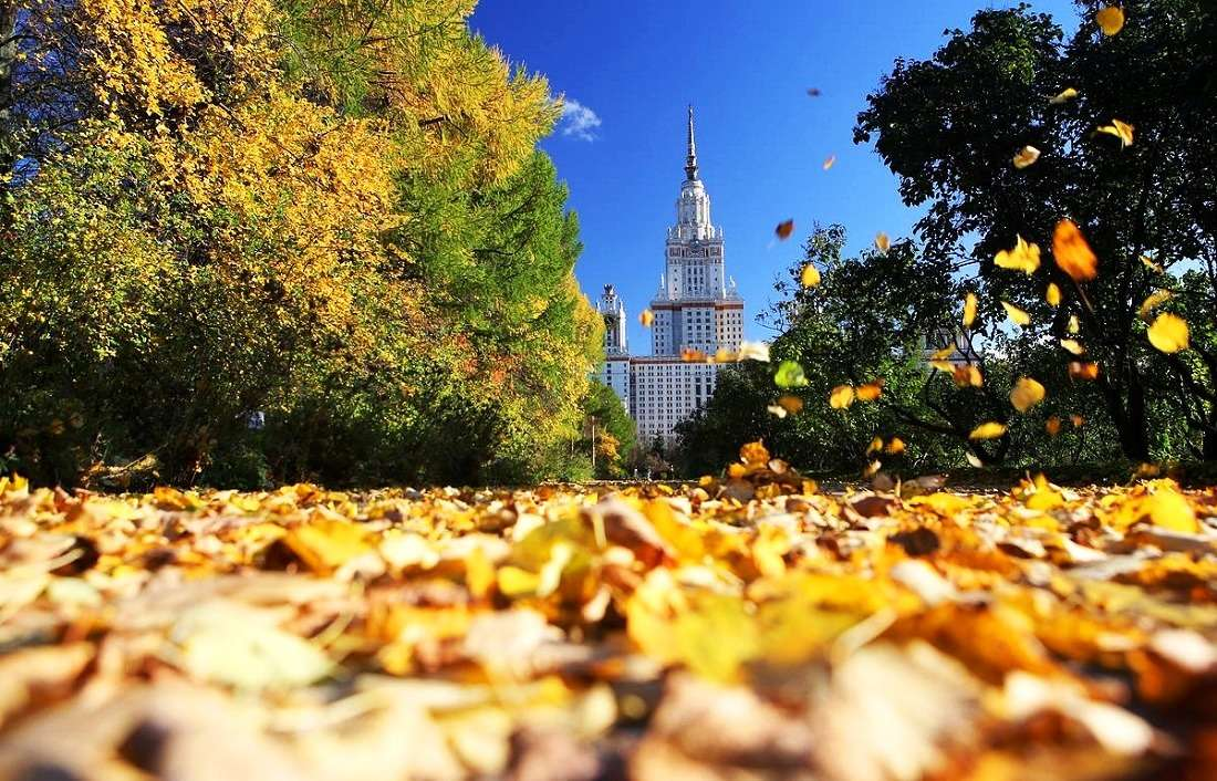 Воробьевы горы осенью
