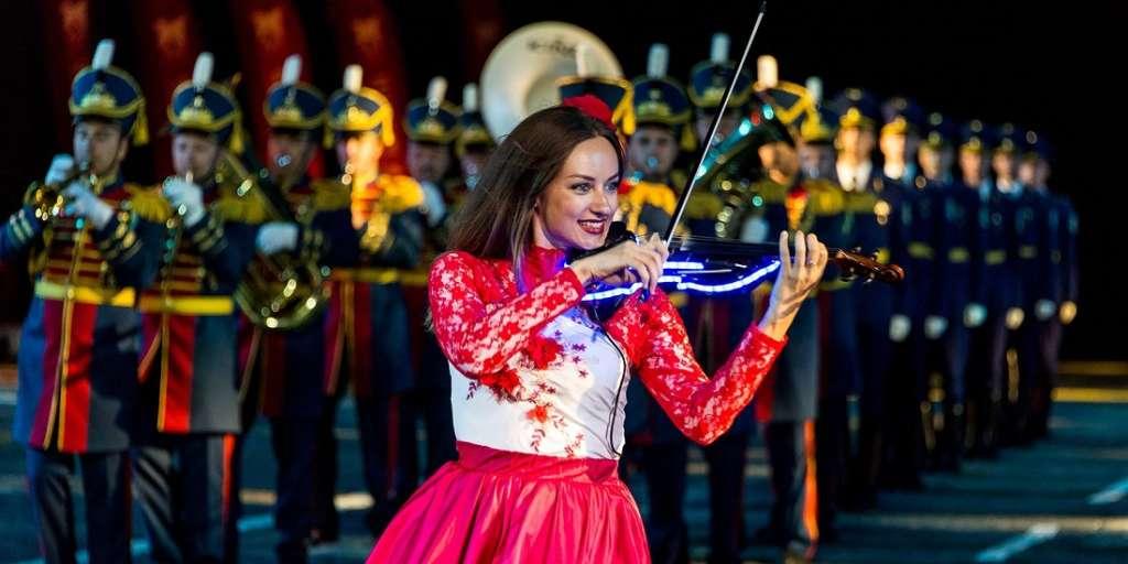 Выступление оркестров на фестивале Спасская башня