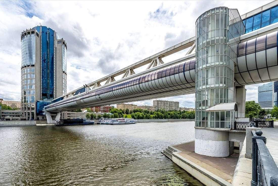 Мост Багратион в Москва-Сити