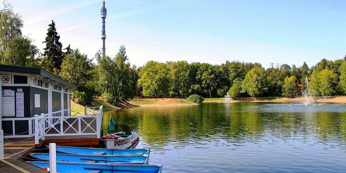 Парковый и Дворцовый пруды в парке «Останкино»
