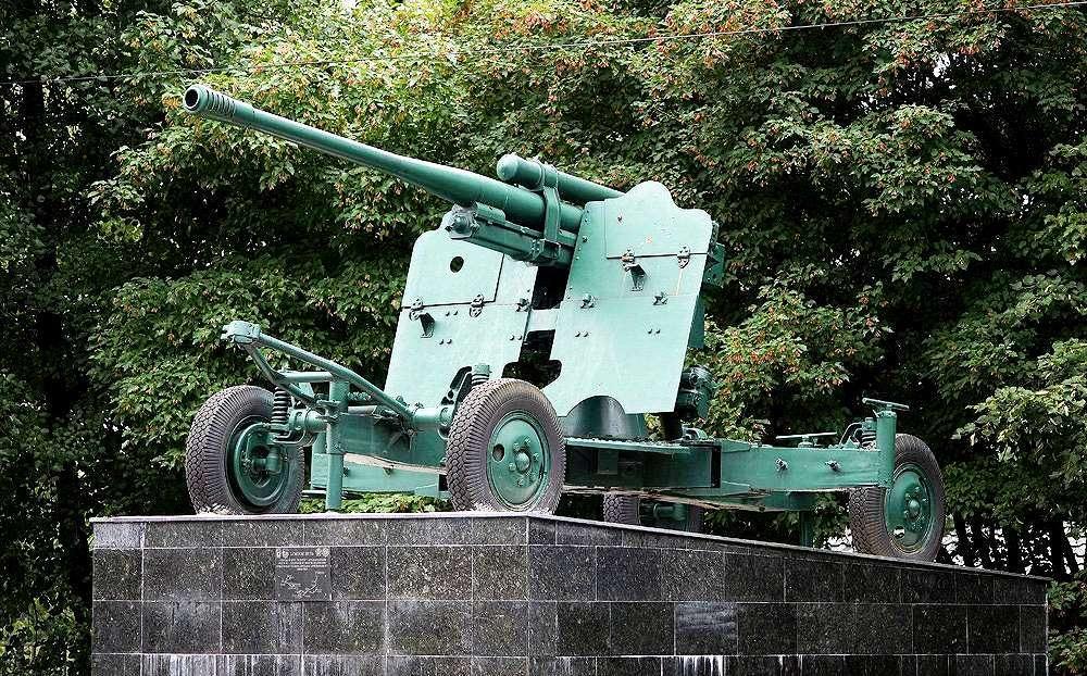 Зенитная пушка в Измайловском парке