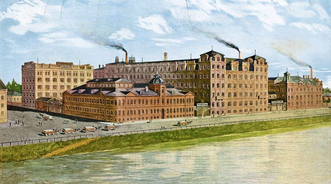 Фабрика товарищества Эйнем в Москве, 1896 год.