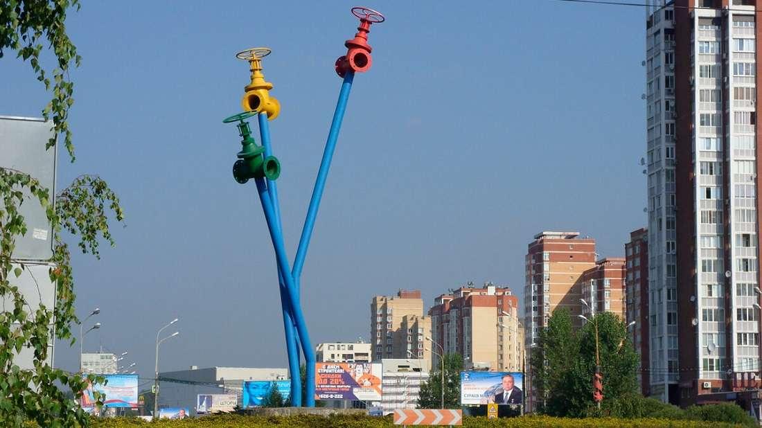 памятник водопроводу в Мытищах