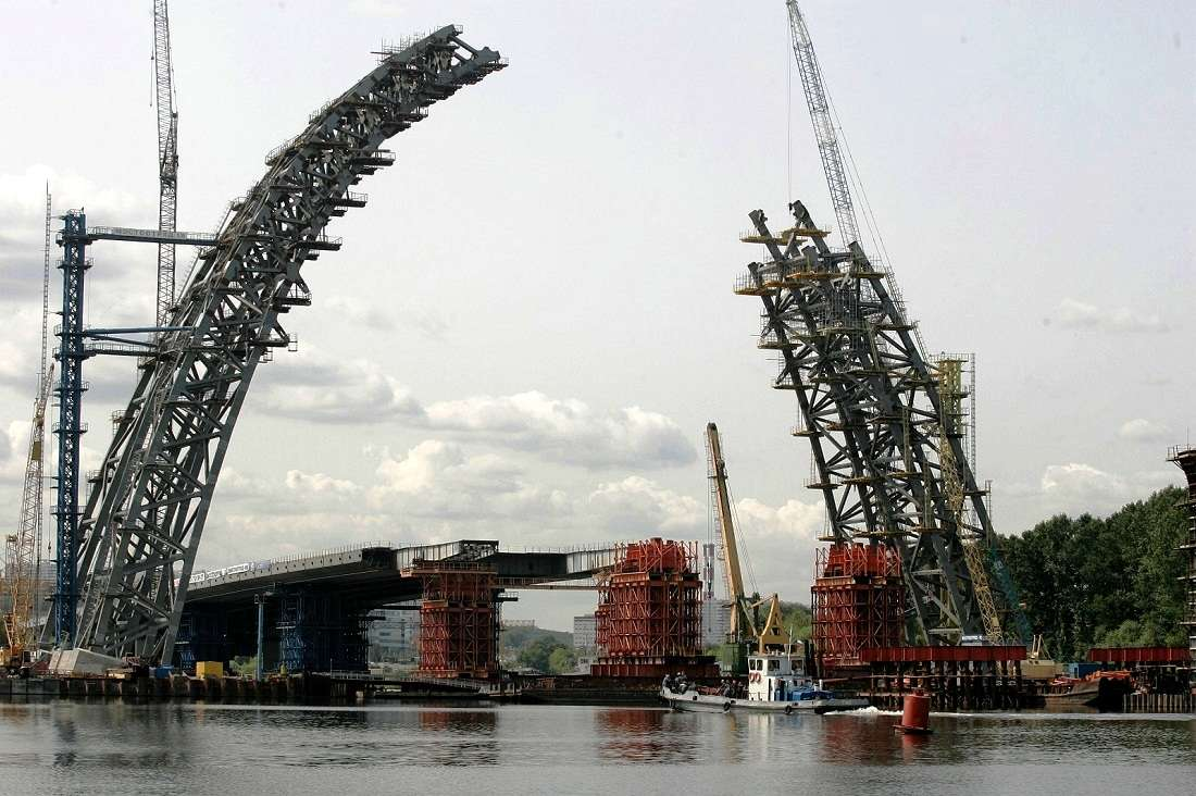 строительство Живописного моста