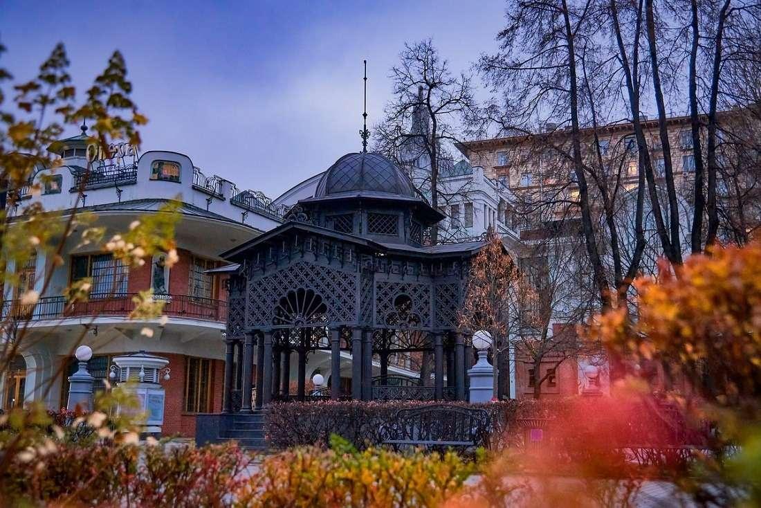 Сад «Эрмитаж» осенью