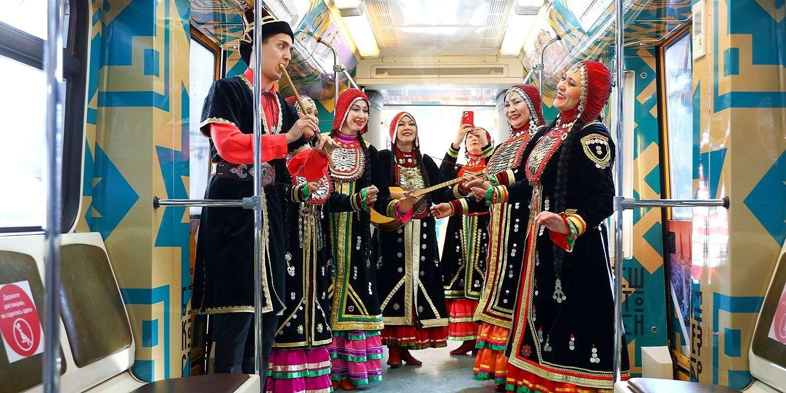 метро поезд «Республика Башкортостан»